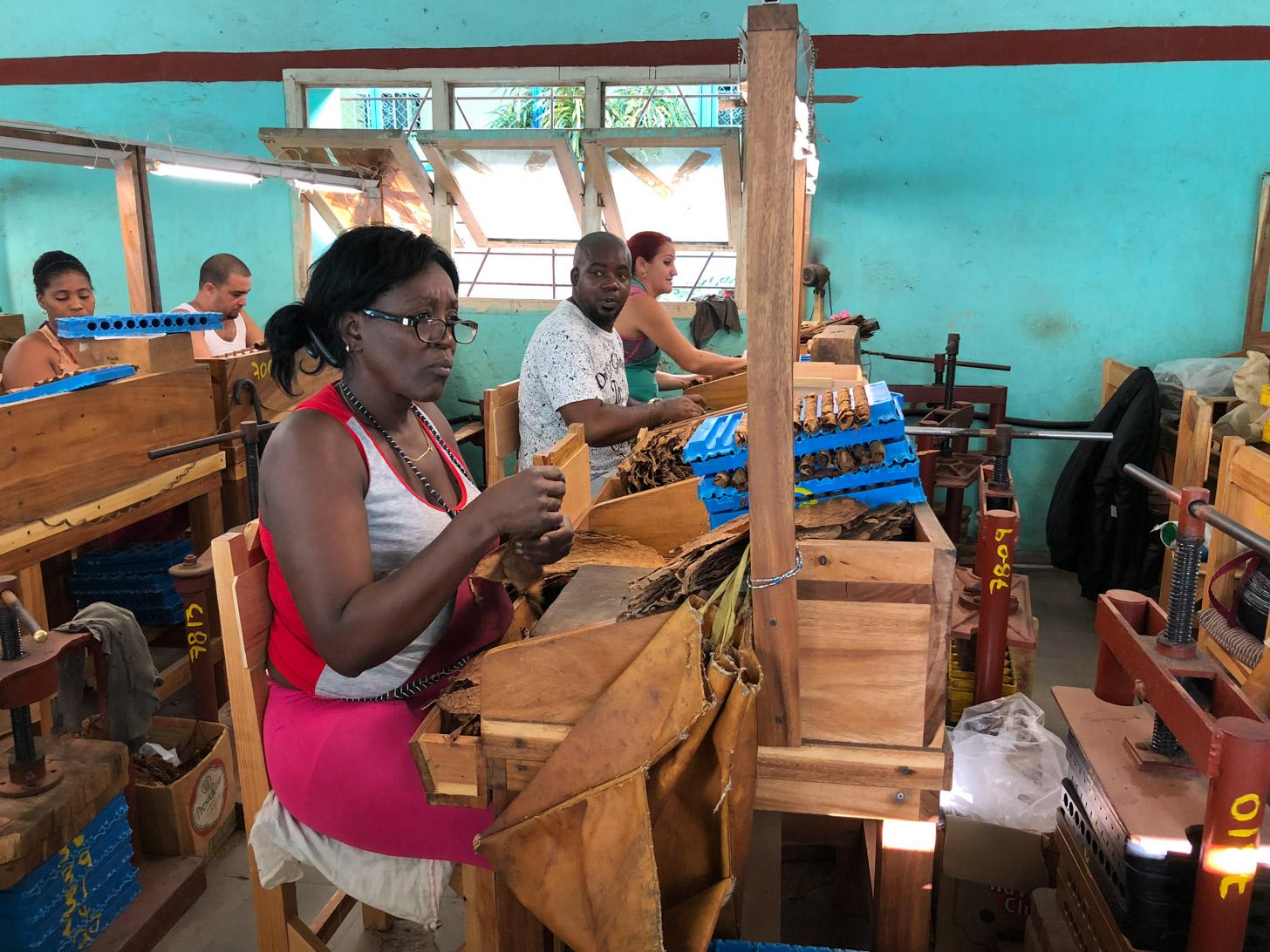 Sigarenfabriek in Pinar del Rio