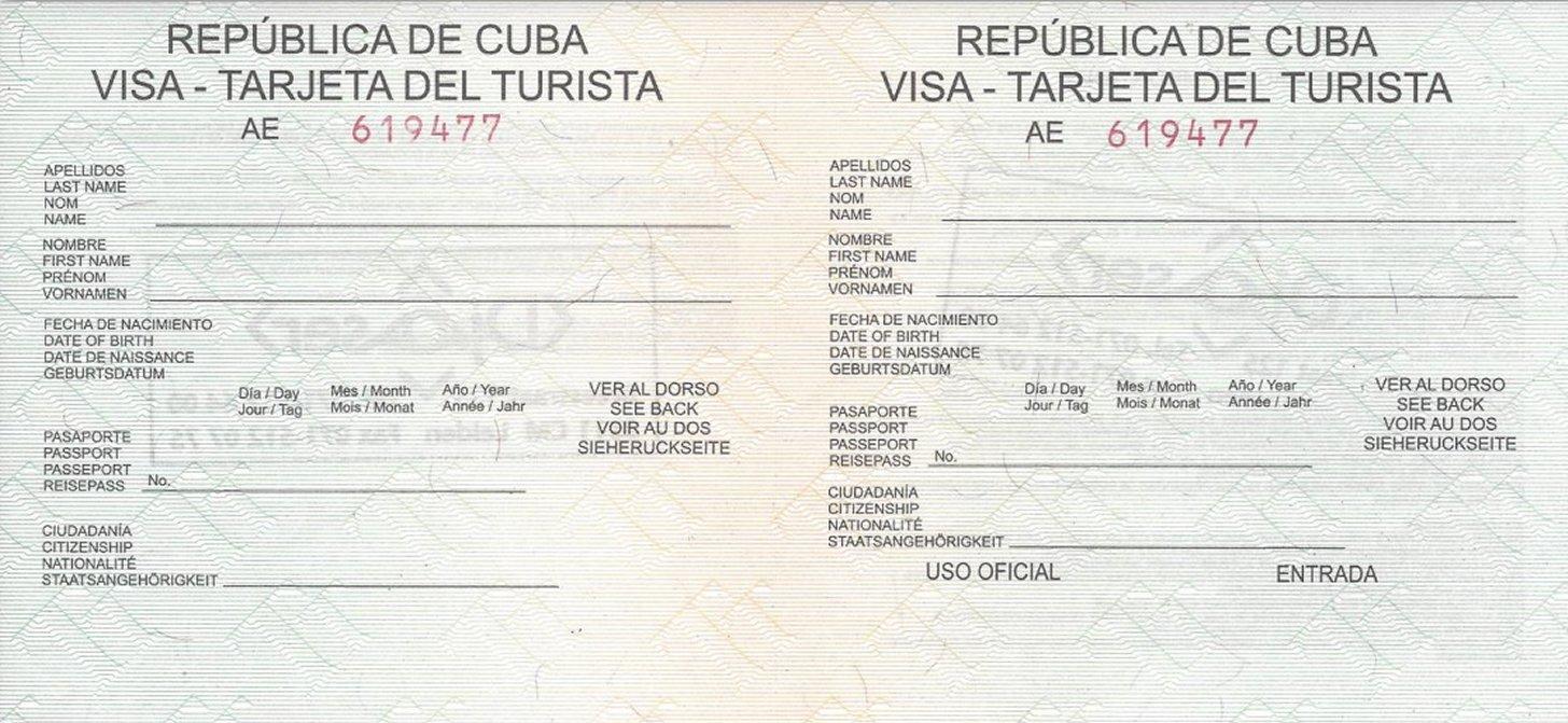Tarjeta del Turista